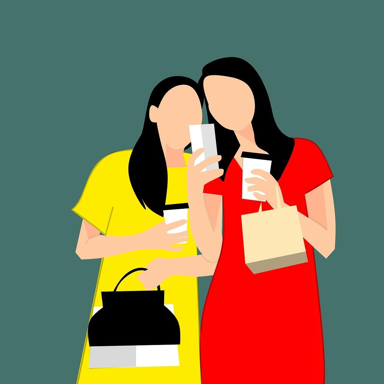 women, shopping, friendship